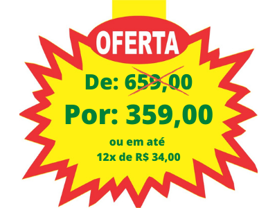 De_ R$ 659,00 Por_ R$ 359,00