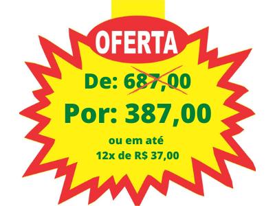 De_ R$ 687,00 Por_ R$ 387,00